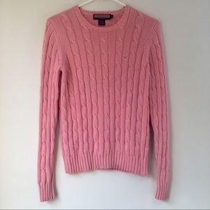 Vineyard Vines Light Pink Cable knit Sweater
